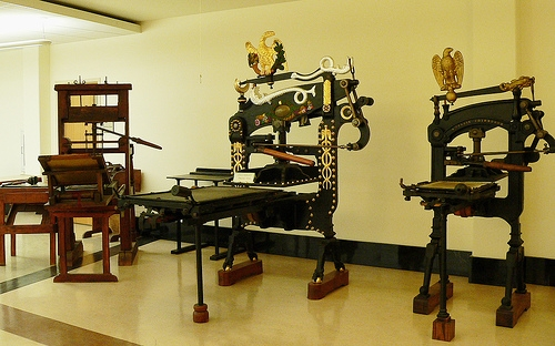 how to set up a printing press
